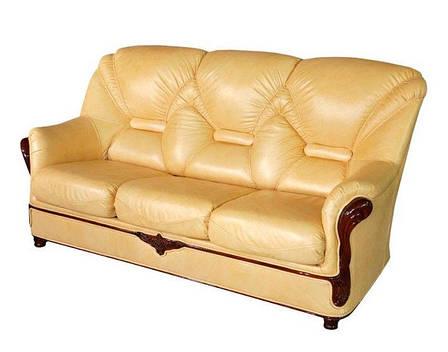 """Прямой раскладной диван в коже """"Вилон"""" (190см), фото 2"""