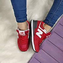 Кроссовки женские New Balance 574 Red красные топ реплика, фото 2