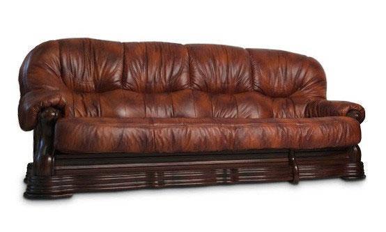 """Новый 4-х местный раскладной диван в коже """"Senator"""" коричневый (290см)"""