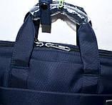 Портфель, сумка для ноутбука тканевая синего цвета 38*28 см, фото 2