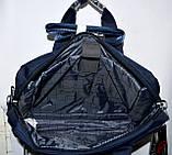 Портфель, сумка для ноутбука тканевая синего цвета 38*28 см, фото 6