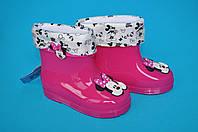 Детские резиновые сапоги для девочек (размер 23-27)