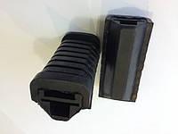 Резинки подножек черные передние Delta к-кт