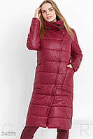 Теплое зимнее пальто. Цвет марсала.