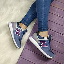 Женские кроссовки New Balance 574 синего цвета топ реплика, фото 3
