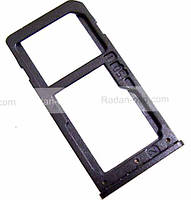 Держатель сим карты Dual Sim Nokia 6 ,Black, MED1C02021A оригинал