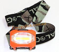 Ліхтарик на голову BaiLong BL-3088-COB. стрічка 8 светодиов. AAA