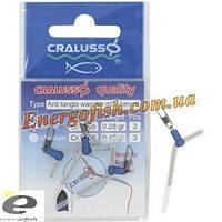 Карабин поплавочный угловой Cralusso Antitangle Waggler attachment S (2006) 3шт