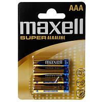 Батарейка щелочная Maxell Super Alkaline AAA R03 4шт.