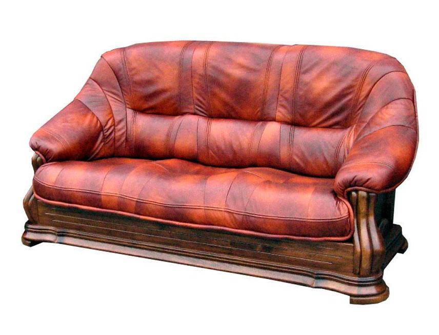 """Трехместный раскладной кожаный диван  """"MIAMI"""" (220см)"""