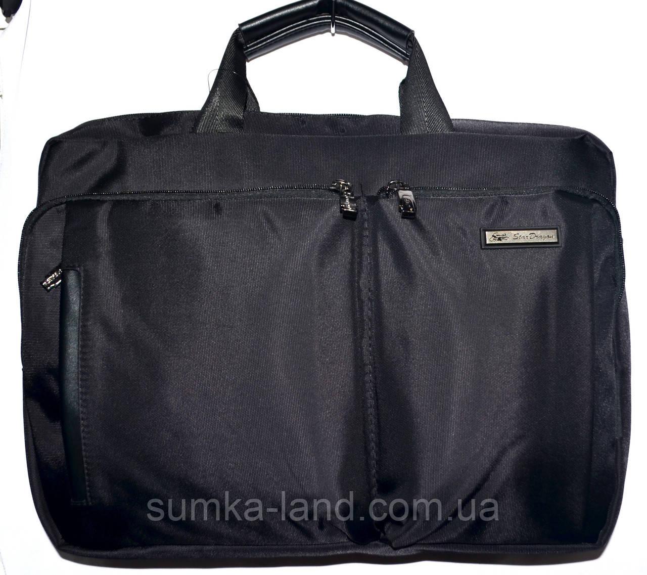 Портфель, сумка для ноутбука черного цвета 38*28 см
