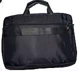 Портфель, сумка для ноутбука черного цвета 38*28 см, фото 3