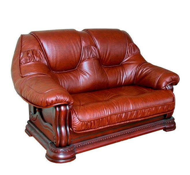 """Класичний шкіряний диван """"GRYZLI"""" Гоп (190см)"""