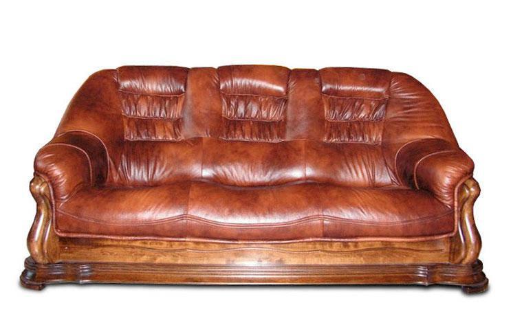 """Трехместный раскладной кожаный диван """"Maestro"""" (220см)"""