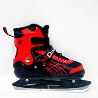 Ледовые коньки Xino Sports (Ксино Спорт) раздвижные, Красные (39-42)