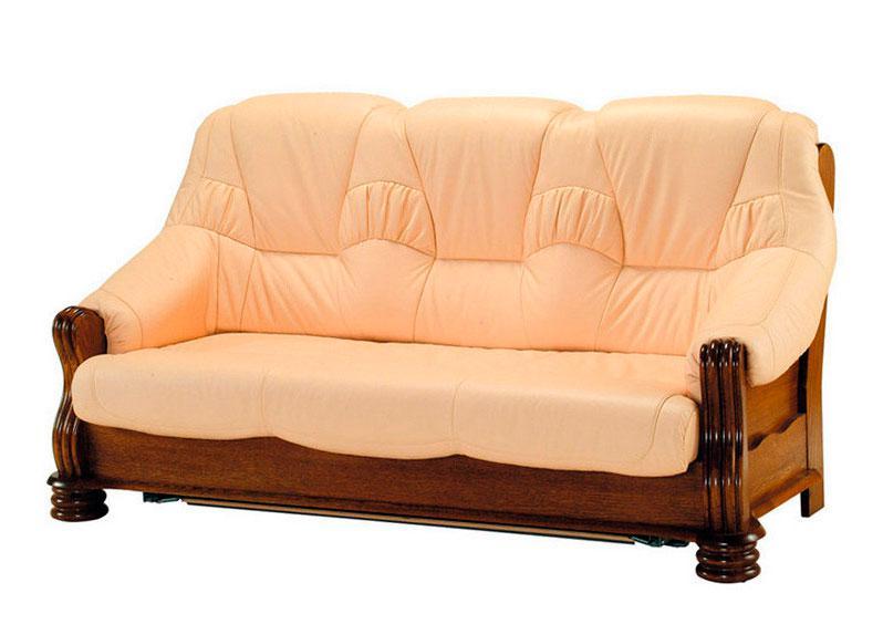 """Класичний розкладний шкіряний диван """"ADAM"""" (190см)"""