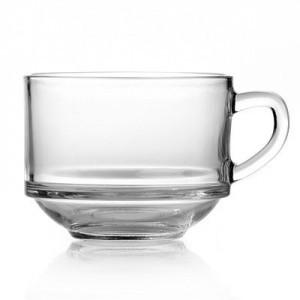 Кружка бульонная из толстого стекла Pasabahce Чефс 635 мл (55303)
