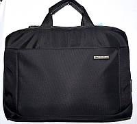 Портфель, сумка для ноутбука тканевая черная 38*28 см