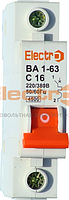 Автоматический выключатель ВА1-63 1полюс 6А х-ка С