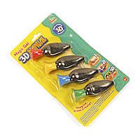 Запаски геля для 3D ручки 111-7: 4 цвета в наборе
