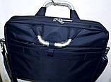 Портфель, сумка для ноутбука тканевая черная с металлическими ручками 36*28 см, фото 2