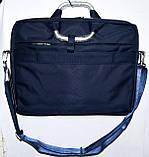 Портфель, сумка для ноутбука тканевая черная с металлическими ручками 36*28 см, фото 4