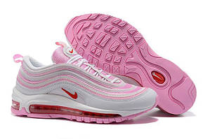 Кроссовки Nike Air Max 97 White Red Flame Pink