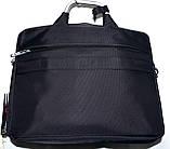 Портфель, сумка для ноутбука синяя с металлическими ручками 36*28 см, фото 4