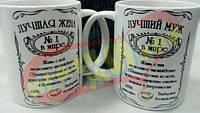 Парные чашки для лучших в мире жены и мужа