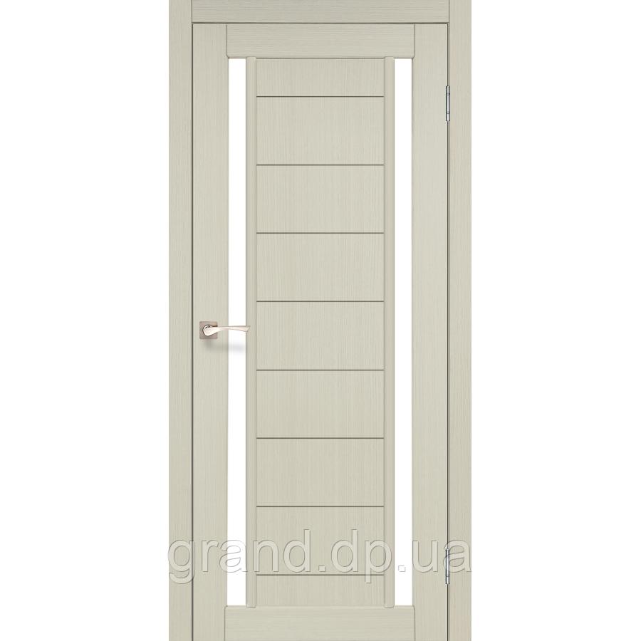 Двери межкомнатные  Корфад ORISTANO Модель: OR - 04 дуб беленый c матовым стеклом