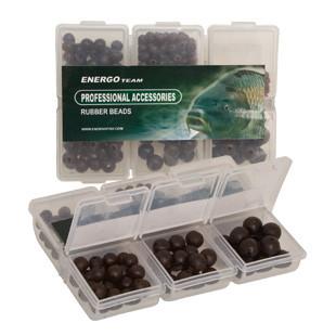 Набор бусинок резиновых ET 6 видов в коробочке (чёрные)
