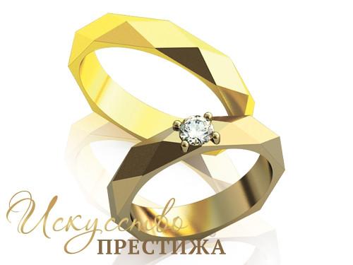 60ac4433ef24 Золотое обручальное кольцо с бриллиантом (МО 004)
