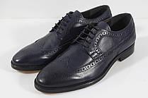Итальянские мужские кожаные туфли броги 42 размер.