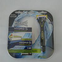 Набор для бритья мужской Wilkinson Schick Hydro 5 Power (Шик Вилкинсон Павер станок + 5 катриджей + батарейка)