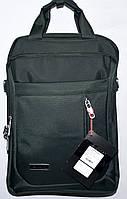 Портфель, сумка для ноутбука черная вертикальная 28*38 см, фото 1