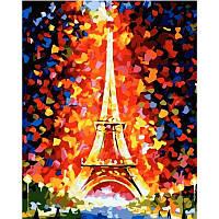 "MS328 Картина по номерам ""Эйфелева башня"", 40*50 см"