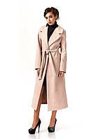 Пальто кашемировое на подкладке оптом. Модель ПЛ003_бежевый.