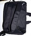 Трансформер, сумка - рюкзак для ноутбука черная 41*30 см, фото 7