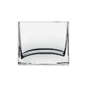 Ваза Флора прямоугольная стеклянная Pasabahce 100х80х85мм (43072)