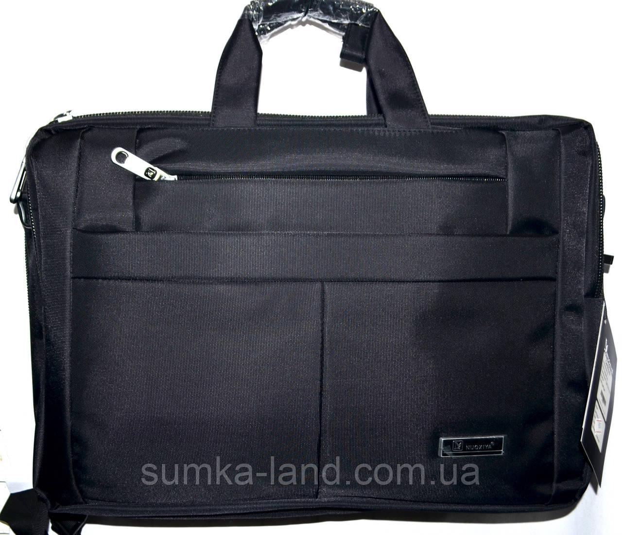 Трансформер, сумка - рюкзак для ноутбука черная 41*30 см