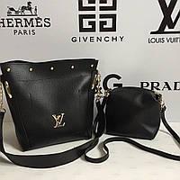Вместительная сумка 2в1 Louis Vuitton 2в1 с косметичкой - клатчем /  Луи Витон / LV