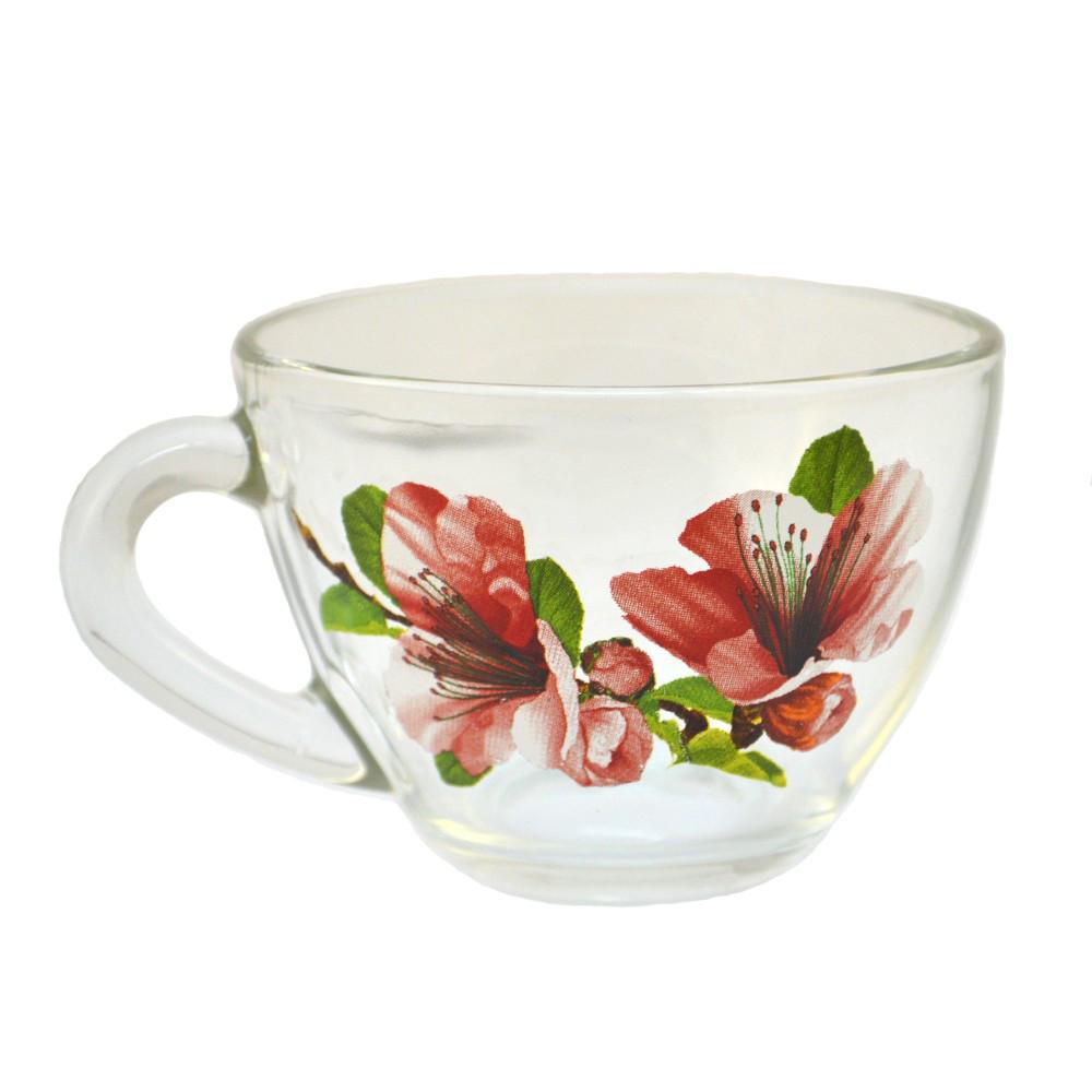 """Чашка """"Прага"""" 200мл Цветы."""