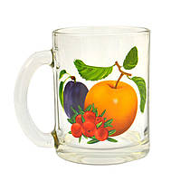 """Кружка чайная с рисунком """"Фрукты"""" 320 мл (8131)"""