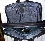 Трансформер, сумка - рюкзак для ноутбука синий цвет 41*30 см, фото 4
