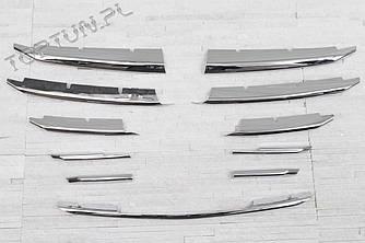 Хром накладки на решетку радиатора Mazda 3 BM (2014+)