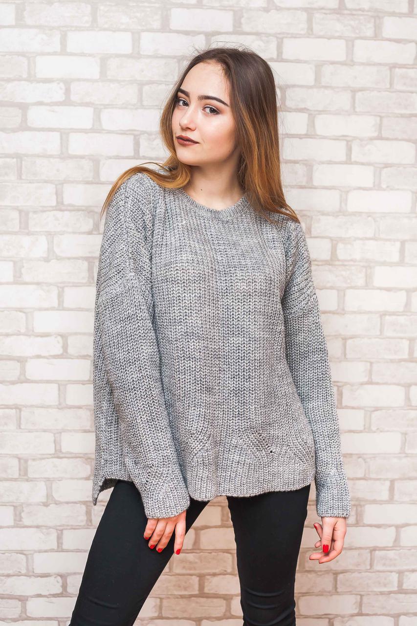свитер женский вязаный оверсайз P50 52 Ss78 3 цена 360 грн