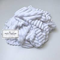 Minky Stripes плюш белого цвета №с-1