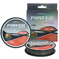 Шнур Energofish ET Power Braid X8 Teflon Coated Dark Grey 150m 0.30mm 24.6kg (30900030)