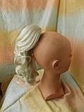 Хвост-шиньон кудрявый на крабе пепельный блонд 6871-60, фото 6