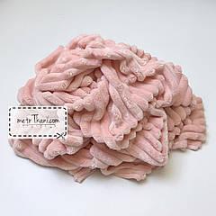 Лоскуток. Minky Stripes плюш розовой пудры цвета №с-76   57*160 см.